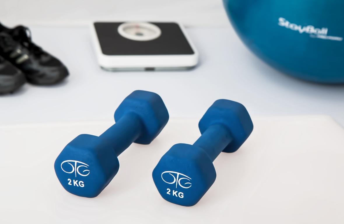 činky ke cvičení